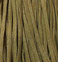 Шнур для одежды плоский 8мм цв бежевый темный/люрекс серебро (уп 100м) арт. 0546