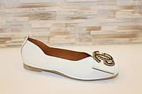 Балетки туфли женские кремовые Т1008