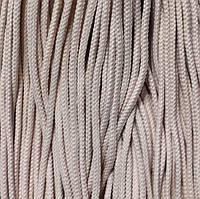 Шнур для одежды круглый 5мм цв S-132 желтый светлый (уп 50, 100м) Укр-б