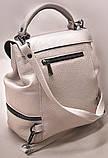 Сумка рюкзак кожаная женская от производителя модель СР10-6, фото 2