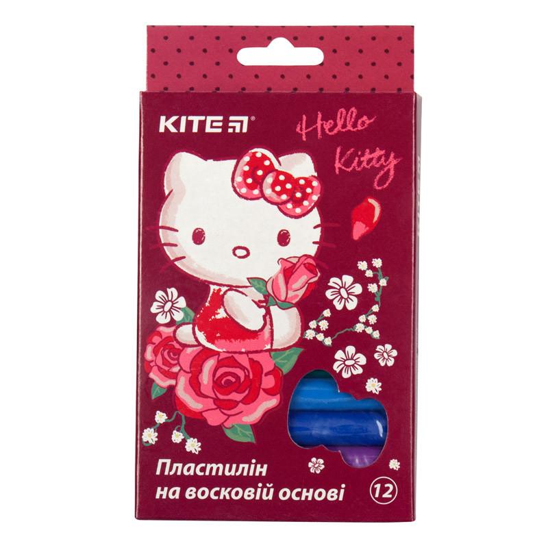 Пластилин восковой Kite Hello Kitty HK19-086, 12 цветов, 200 г