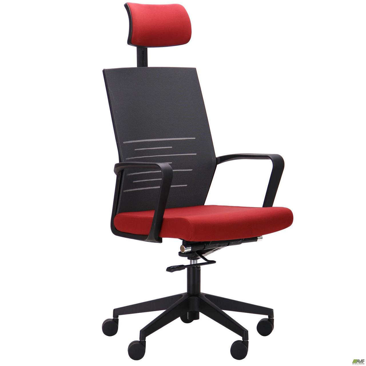 Кресло офисное AMF Nitrogen HB графит+бургунди