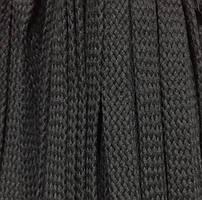 Шнур для одежды без наполнителя х/б 16мм цв черный (уп 100м) Ф