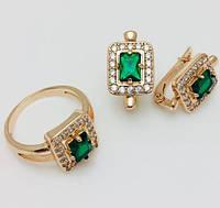 Набор Грация серьги+ кольцо размер кольца  20