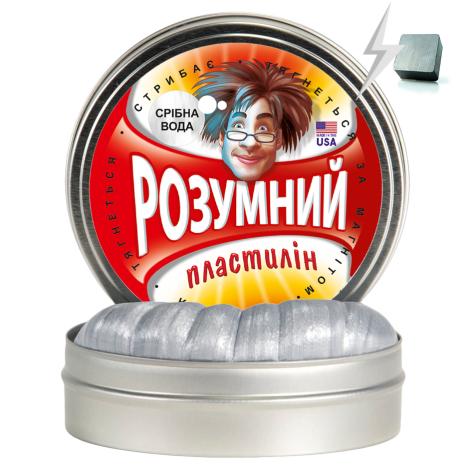 Розумний пластилін Thinking Putty срібна вода (магнітний) (ti16002)