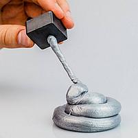 Розумний пластилін Thinking Putty срібна вода (магнітний) (ti16002), фото 4
