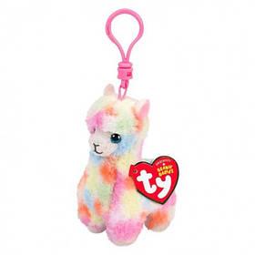 """М'яка іграшка ty beanie babies різнобарвна лама """"lola"""" 12 см (рожева лама, білий тигр, собака, тигр)"""