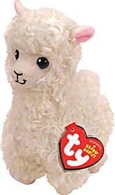 М'яка іграшка ty beanie boo's біла лама lily 15 см (41216)