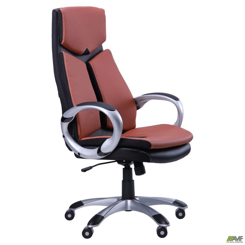Кресло офисное AMF Optimus коричневое