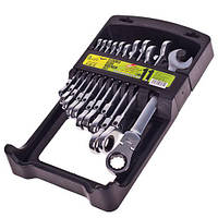 Набор ключей Alloid комб. трещот.  с карданом 11 пр., 8,9,10,11,12,13,14,15,16,17,19 мм(НК-2081-11К)