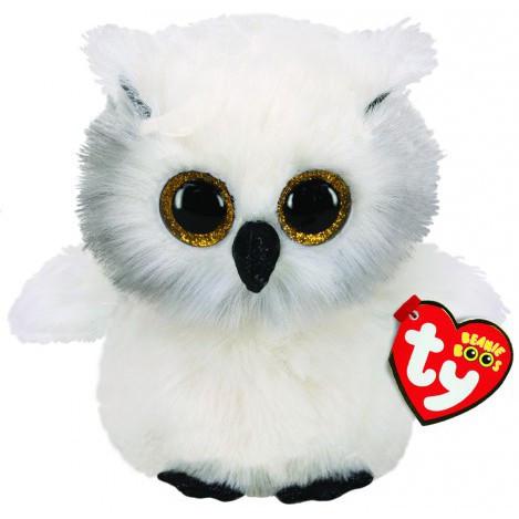 М'яка іграшка ty beanie boo's біла сова 15 см (36305)