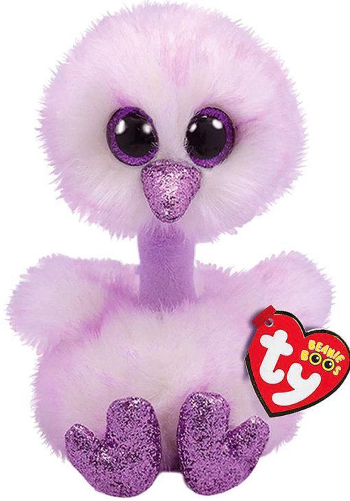 М'яка іграшка Ty beanie boo's лавандовий страус kenya 15 см (36329)