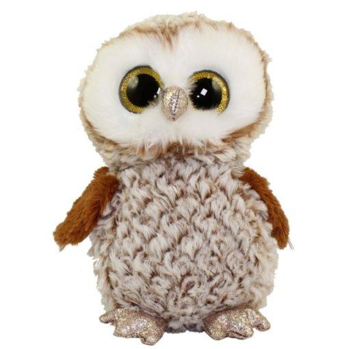 М'яка іграшка ty beanie boo's коричнева сова percy 25 см (36462)