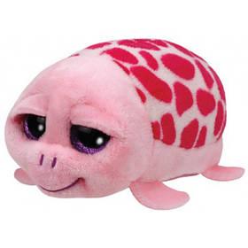 М'яка іграшка ty teeny ty's рожева черепаха (зебра, пес, хаскі, лев, жираф, сова, далматинець) (42145)