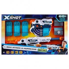 Набір скорострільних бластерів x-shot clip blaster (6 банок, 48 патронів) (36123Z)