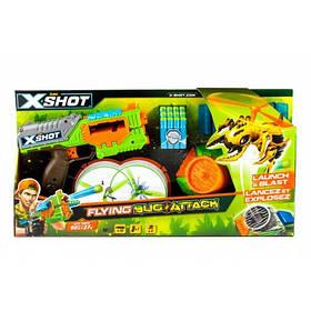 Бластер x-shot вогонь по літаючим жукам (2 літаючих жука, 12 патронів) (4821)
