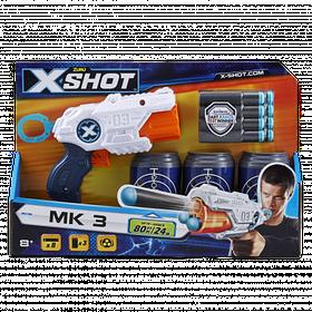 Скорострільний бластер x-shot mk 3 (3 банки, 8 патронів) (36119Z)