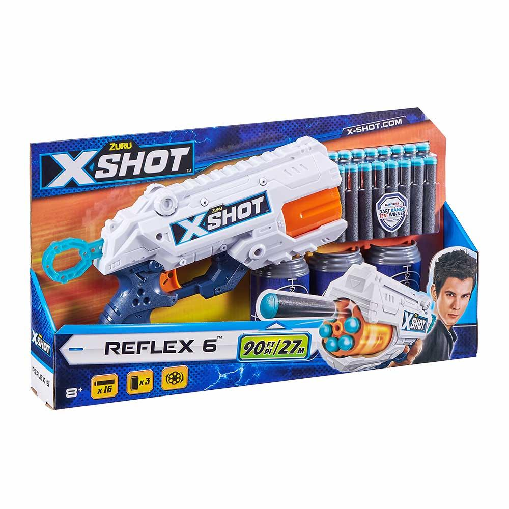 Скорострільний бластер reflex 6 X-shot (3 банки, 16 патронів) (36433Z)