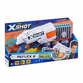 Скорострільний бластер x-shot reflex 6 (3 банки, 16 патронів) (36433Z)
