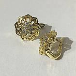 Серьги Диана (под европейское золото 750 пробы), фото 2