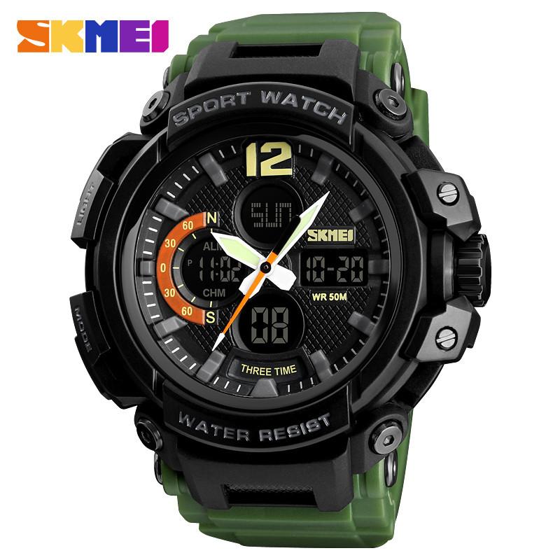 Skmei 1343 halk зеленые мужские спортивные часы