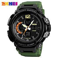Skmei 1343 halk зеленые мужские спортивные часы, фото 1