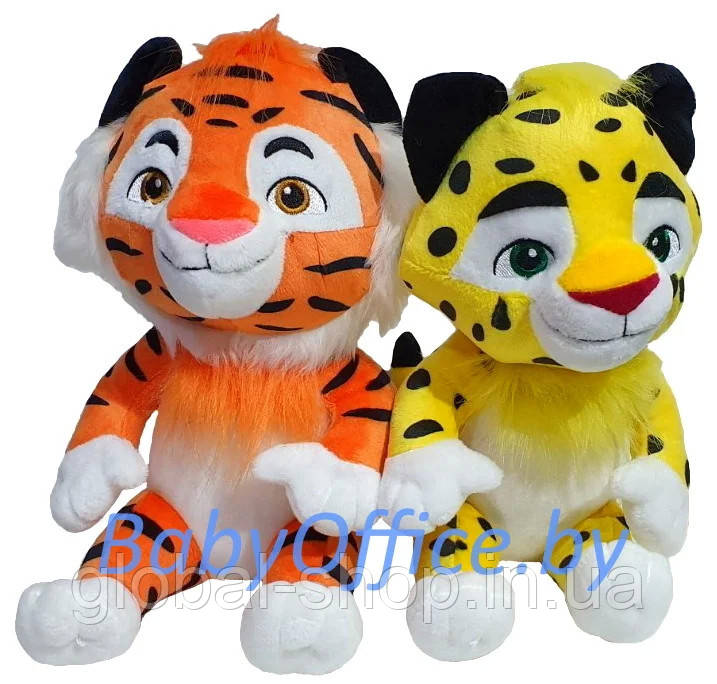 """Мягкая игрушка """"Лео"""" или  """"Тиг"""" на выбор  музыкальные, 25 см."""