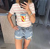 Женские стильные джинсовые шорты, фото 1