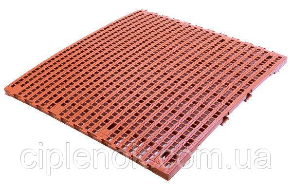 Щелевой пластиковый пол для птичников, решетчатый пластиковый пол для бройлеров 1000*1000 мм