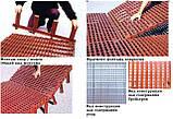 Щелевой пластиковый пол для птичников, решетчатый пластиковый пол для бройлеров 1000*1000 мм, фото 4