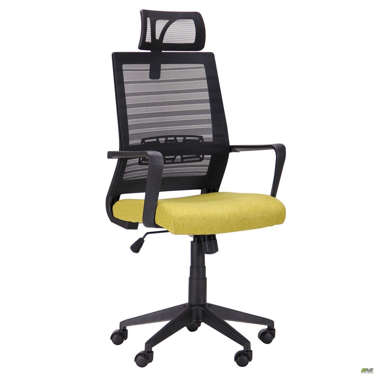 Кресло офисное AMF Radon черный+оливковый