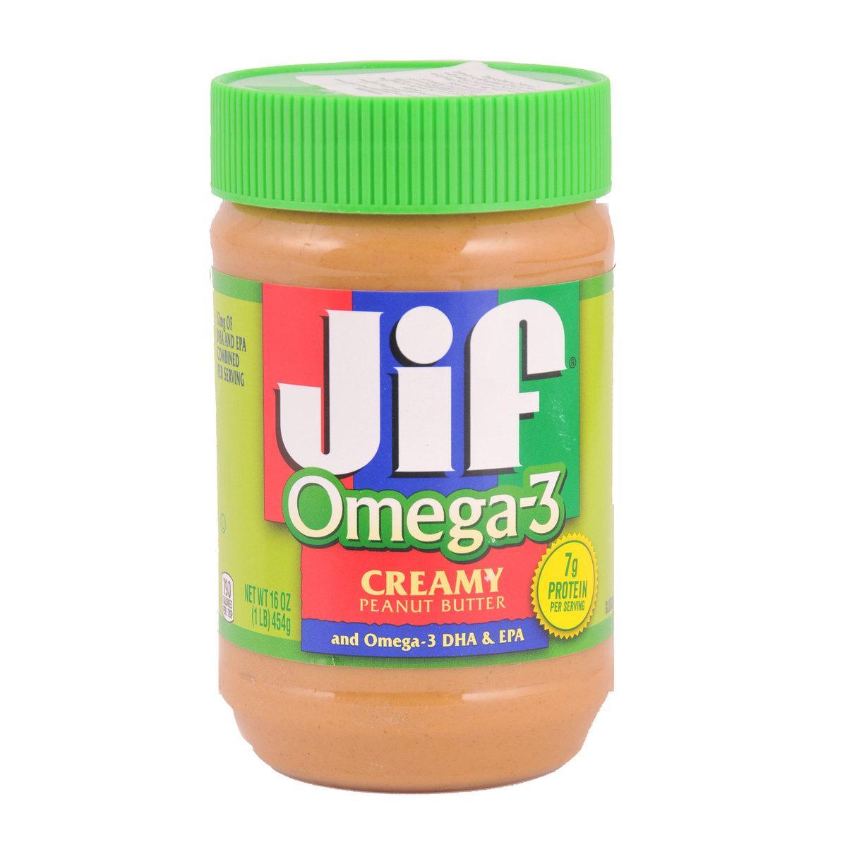 Jif Omega 3 Peanut Butter Creamy 454 g