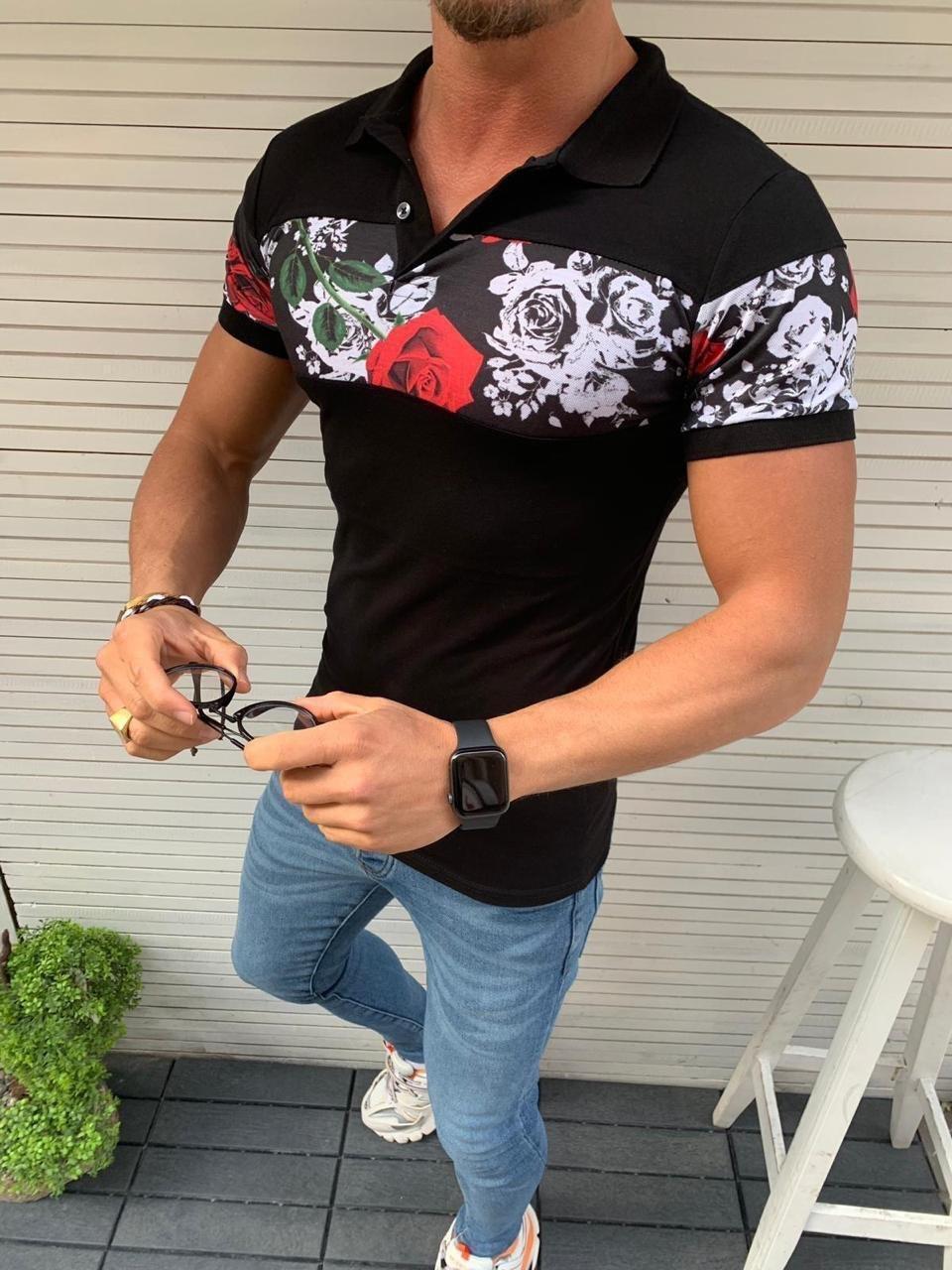 Мужская футболка Sik Silk M152 черная