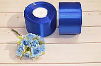 Лента атласная 5 см (бабина). Цвет - синий