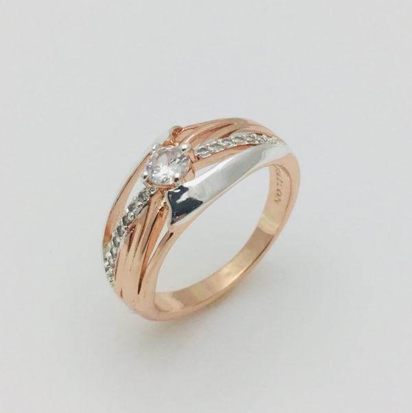 Кольцо Кэлли двухцветный, размер  16, 17, 21, 22