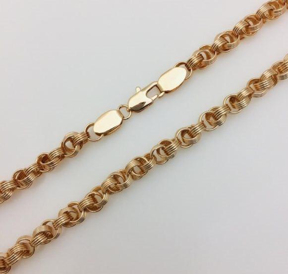 Цепочка Фантазийное плетение, ширина 6 мм, длина 60 см, ювелирная бижутерия