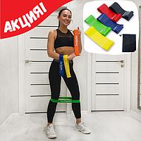 Набор резинок для фитнеса 5 шт + чехол в комплекте, набор лент-эспандеров, резинки для фитнеса, фитнес ленты
