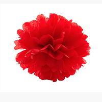 Вау! Свадебный Бумажный помпон Тишью 20 см, Красный