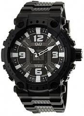 Мужские классические часы Q&Q GW82J черные
