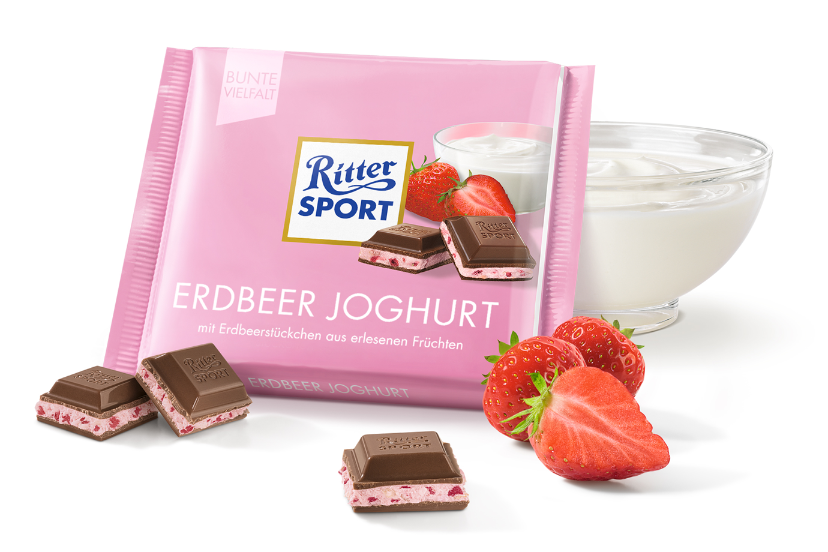 Mini Ritter Sport Erdbeer Joghurt 16 g