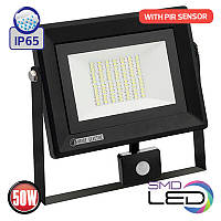 Світлодіодний прожектор 220v 50w PARS / S-50 з датчиком руху