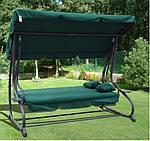 Садовая качеля FunFit Relax Plus зеленая  Польша, фото 4