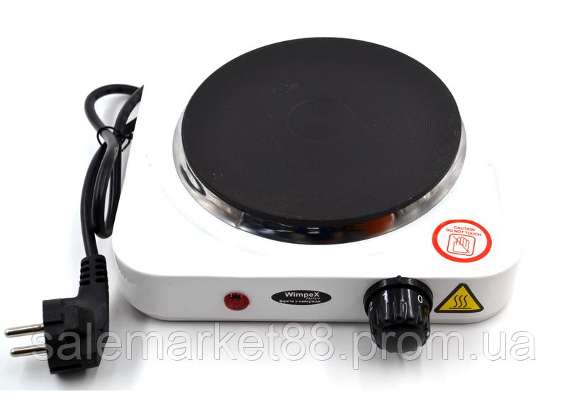 Электроплита WimpeX WX-100A плита настольная дисковая