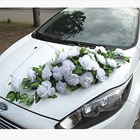 Икебана-панно Белая на магнитах (108)