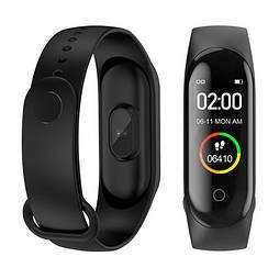 Фитнес браслет трекер M4 Fit Smart Bracelet black, часы, цветной экран