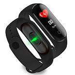 Фитнес браслет трекер M4 Fit Smart Bracelet black, часы, цветной экран, фото 3