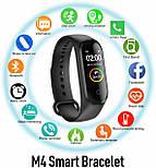 Фитнес браслет трекер M4 Fit Smart Bracelet black, часы, цветной экран, фото 5