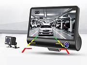 Видеорегистратор с 3 камерами DVR XH202 FullHD 1080p.