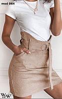 Женская короткая вельветовая юбка, фото 1