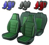 Чехлы сидений Ланос Заз Зеленые (горбы)